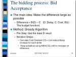 the bidding process bid acceptance