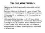 tips from actual reporters