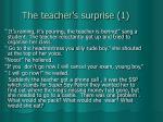 the teacher s surprise 1
