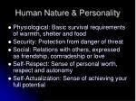 human nature personality