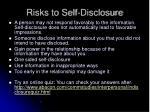 risks to self disclosure