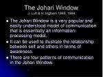 the johari window j luft h ingham 1969 1984