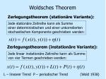 woldsches theorem