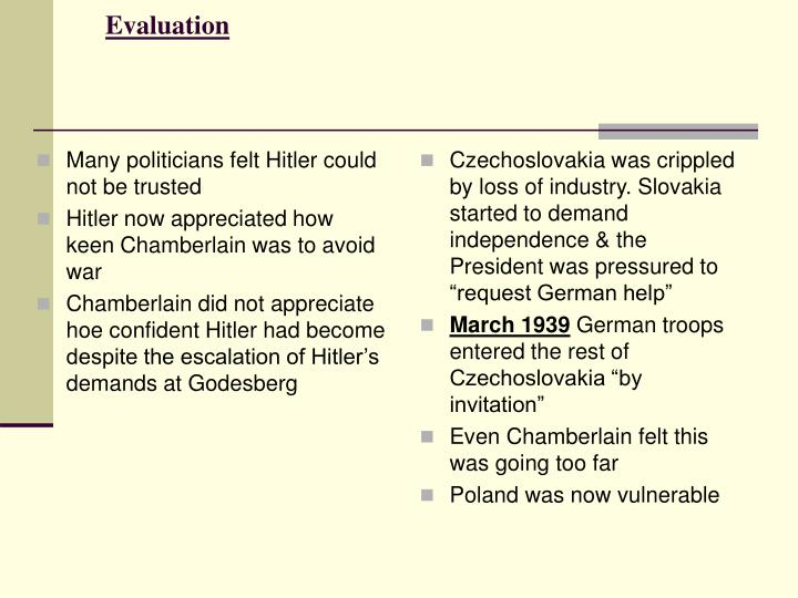 Many politicians felt Hitler could not be trusted