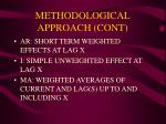 methodological approach cont
