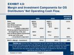 exhibit 4 9 margin and investment components for os distributors net operating cash flow