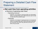 preparing a detailed cash flow statement