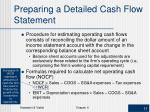preparing a detailed cash flow statement1