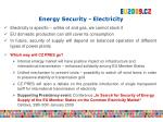energy security electricity