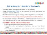 energy security security of gas supply