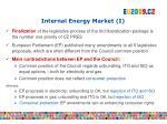 internal energy market i