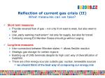 reflection of current gas crisis ii what measures can we take