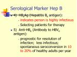 serological marker hep b1