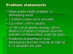 problem statements