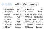 wg 1 membership