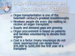 organ transplantation and procurement facts