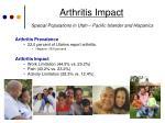 arthritis impact special populations in utah pacific islander and hispanics