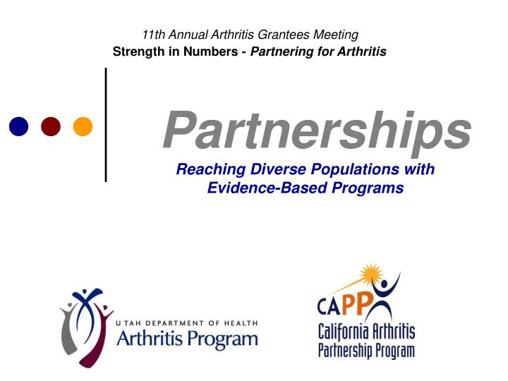 partnerships reaching diverse populations with evidence based programs n.