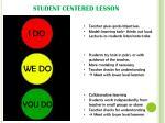 student centered lesson