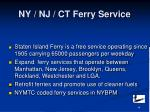 ny nj ct ferry service