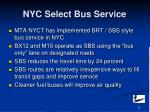 nyc select bus service