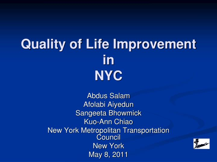 quality of life improvement in nyc n.