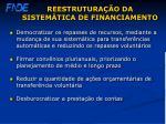 reestrutura o da sistem tica de financiamento