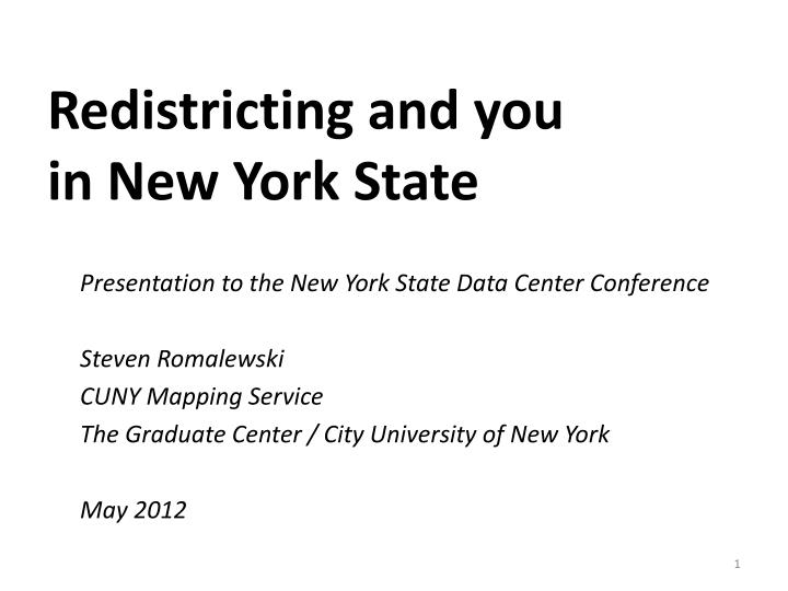 redistricting and you in new york state n.