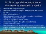 iv disa nga efektet negative te zhurmave ne shendetin e njeriut
