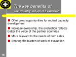 the key benefits of the country led joint evaluation
