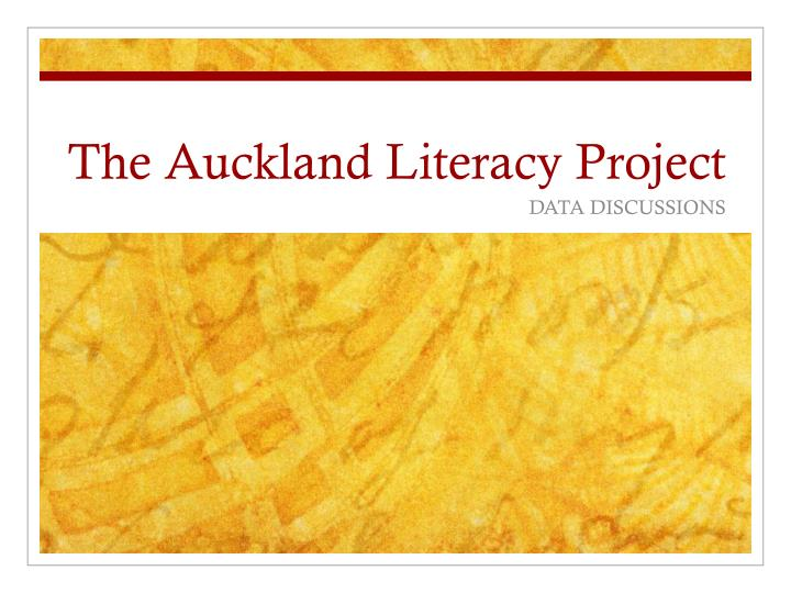 the auckland literacy project n.