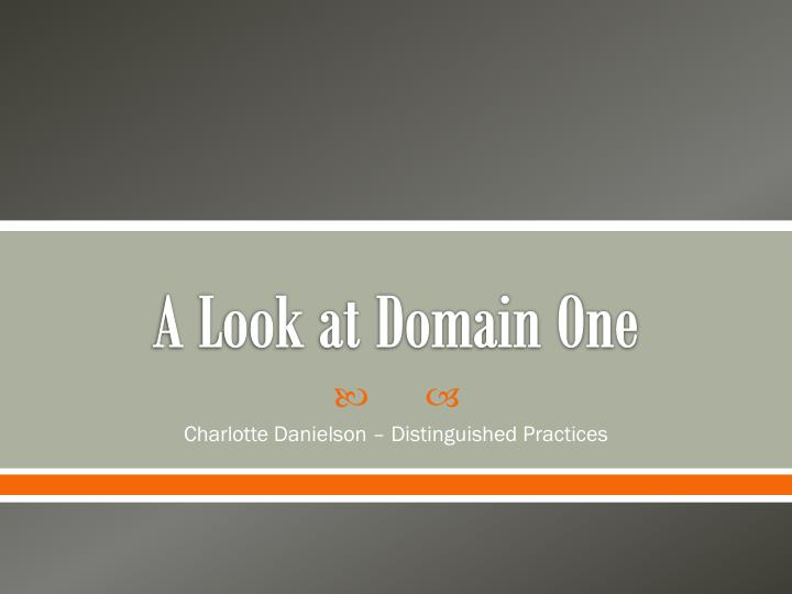 a look at domain one n.