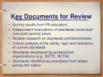 key documents for review