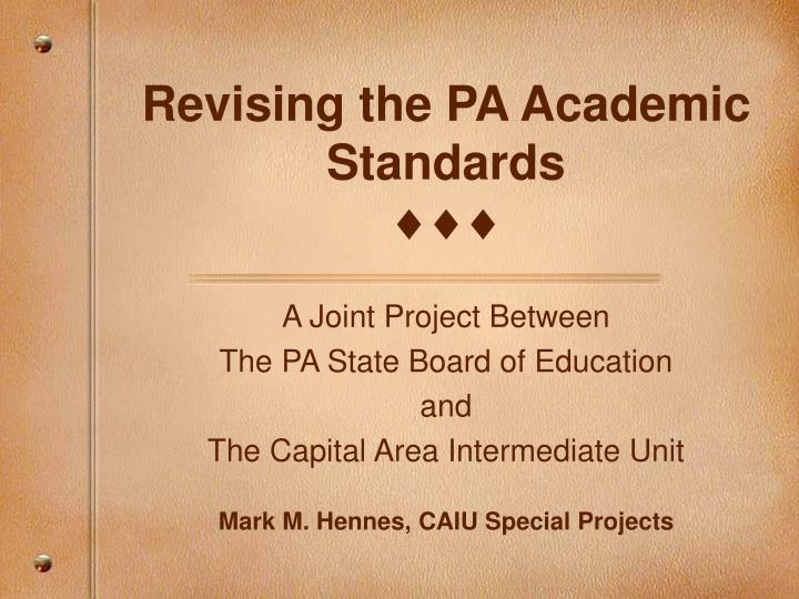 revising the pa academic standards n.