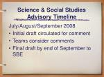 science social studies advisory timeline1