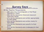 survey says1