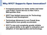 why nyct supports open innovation
