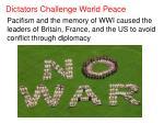 dictators challenge world peace1