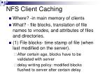 nfs client caching