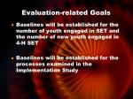 evaluation related goals1