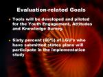 evaluation related goals2