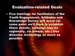 evaluation related goals3