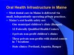 oral health infrastructure in maine