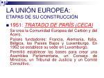 la uni n europea etapas de su construcci n
