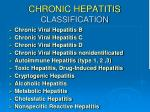 chronic hepatitis classification