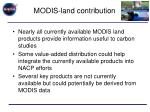 modis land contribution