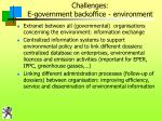 challenges e government backoffice environment