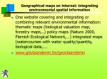 geographical maps on internet integrating environmental spatial information