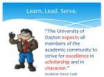 learn lead serve