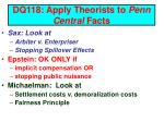 dq118 apply theorists to penn central facts
